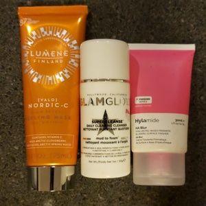 Skincare bundle -lumene, glamglow, abnormal beauty